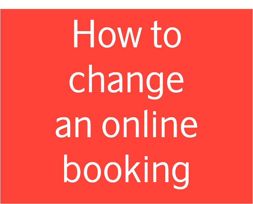 Change booking